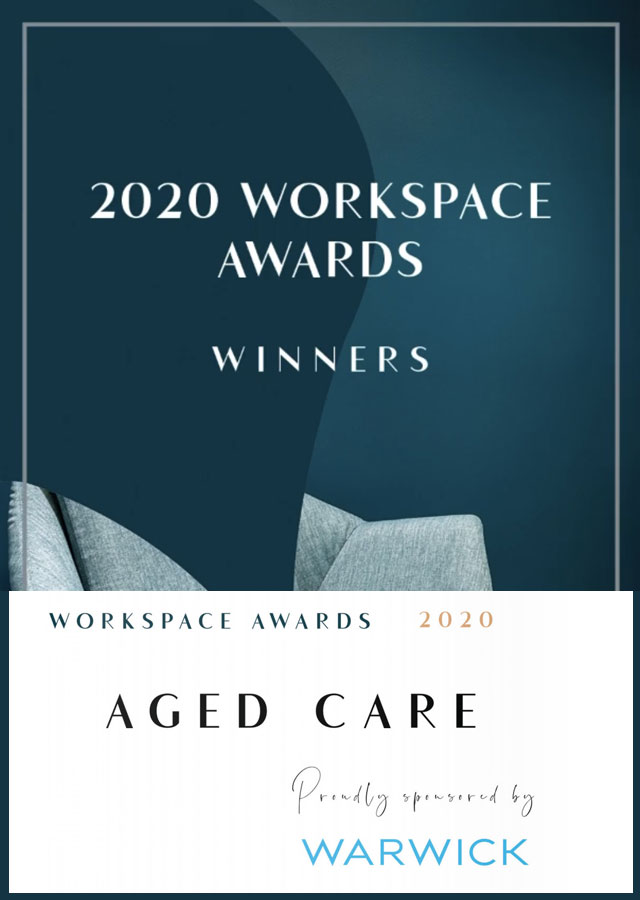 I+D Studio Winner of Aged Care Design, Workspace Awards 2020